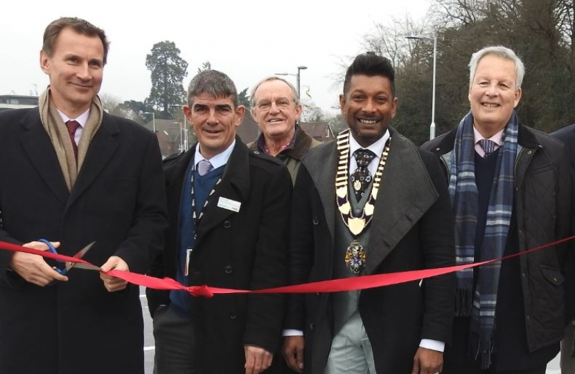 Jeremy Hunt MP, Haslemere Station Car Park Opening