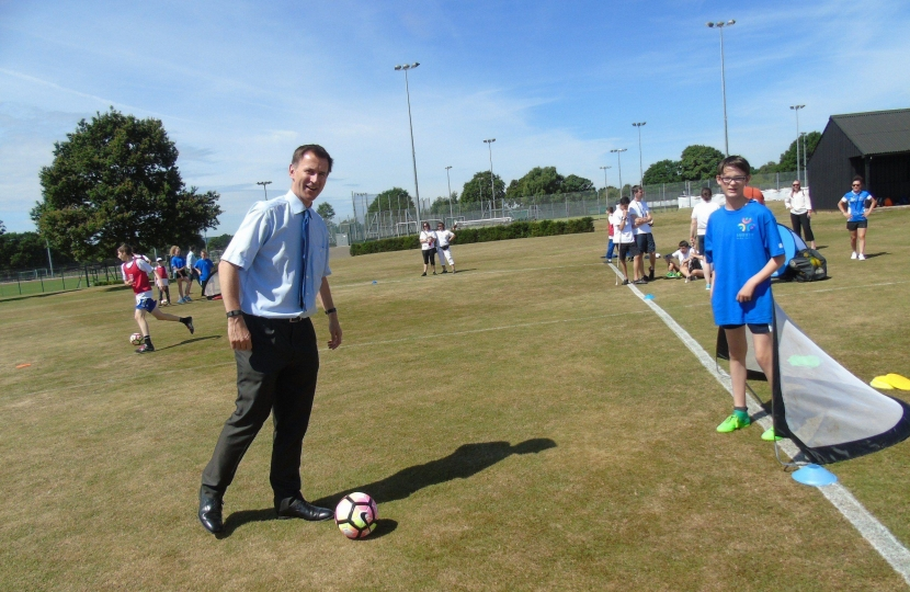 Jeremy Hunt Football