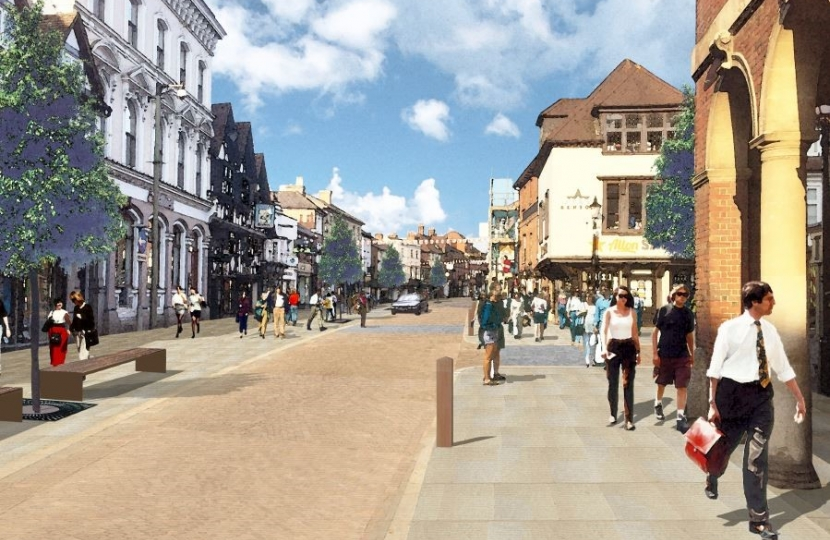 Artist's impression of what Farnham could look like