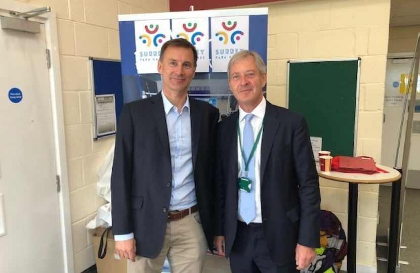 Jeremy Hunt and SCC's Tim Oliver