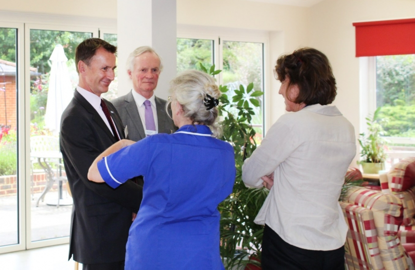 Jeremy Hunt chats with Alan Brooks, Sarah Brocklebank and Karen McEvoy